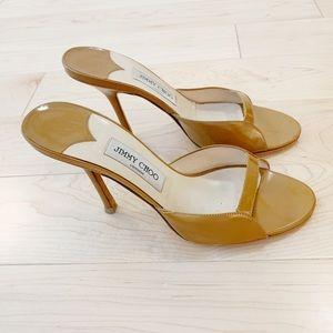 Jimmy Choo brown/ nude strappy heels
